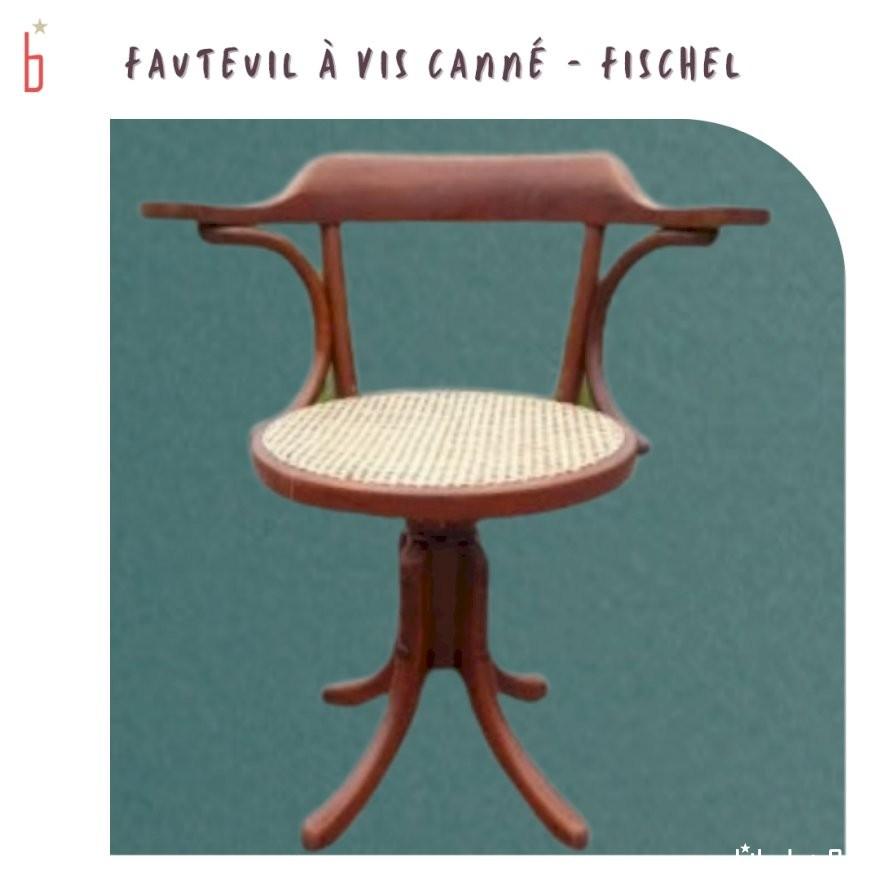 Fauteuil Fischel cané à vis